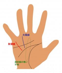 (5)運命線がない相
